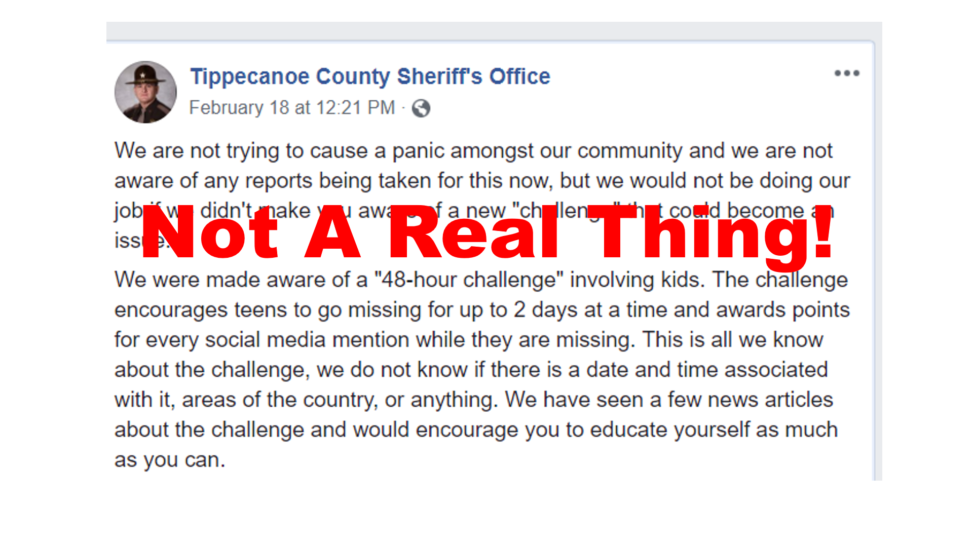 Fake News: Kids ARE NOT Running Away From Home Because Of Facebook 48-Hour Challenge