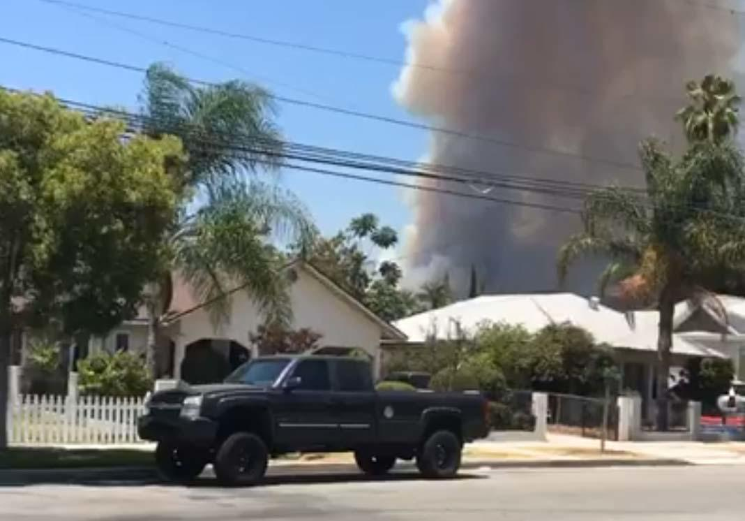 California Burning: Wildfires Rage in Los Angeles Suburb Of Azusa, California