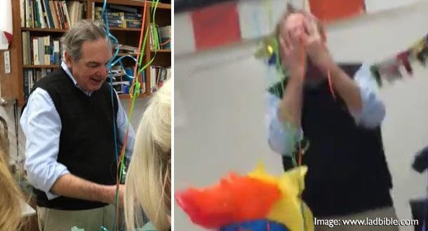 Respect: Teacher Brought To Tears After His Students Give Him Birthday Cake