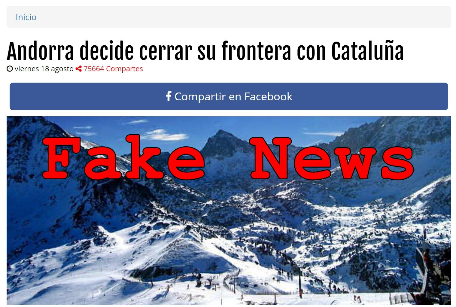Fake News: Andorra Did NOT Close Border With Catalonia