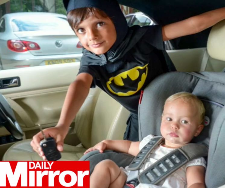 Pretend Batman Helps Save Toddler From Hot Car