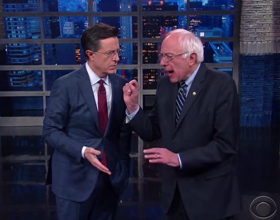 Bernie Sanders To Colbert: 'The Revolution Will Literally Be Televised'
