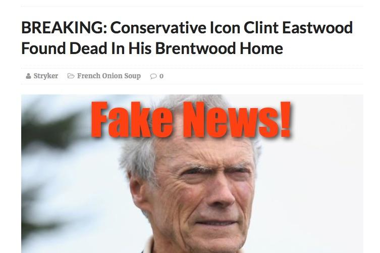 Fake News: Conservative Icon Clint Eastwood NOT Found Dead In His Brentwood Home