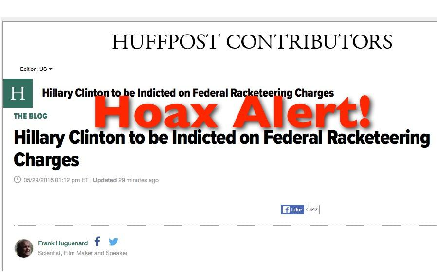 Hoax Alert: Hillary & Bill Clinton NOT To Face Federal Racketeering Charges