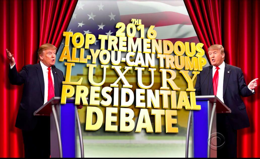 Trending Video: Stephen Colbert Stages Trump Vs. Trump Debate