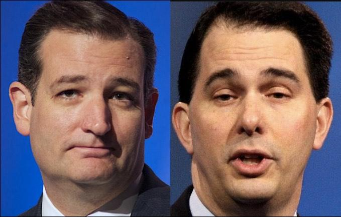 Scott Walker Endorses Ted Cruz Ahead of Wisconsin's GOP Primary