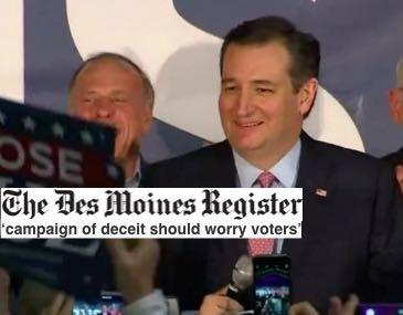 Iowa Newspaper: Ted Cruz Won Caucuses With 'Campaign Of Deceit'