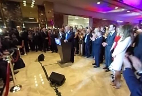 Donald Trump Posts 360 Video Of Victory Speech: Pick Your Angle