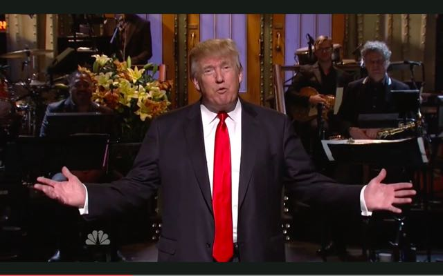 Larry David Interrupts Donald Trump's SNL Monologue: 'You're A Racist!'