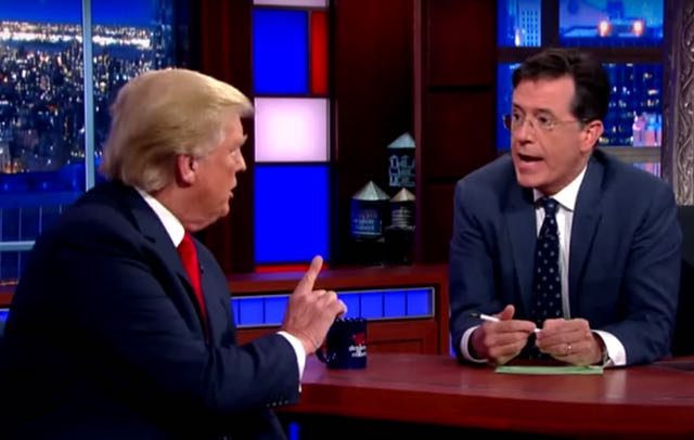 Video: Donald Trump Offers No Apologies On Stephen Colbert's 'Late Show'