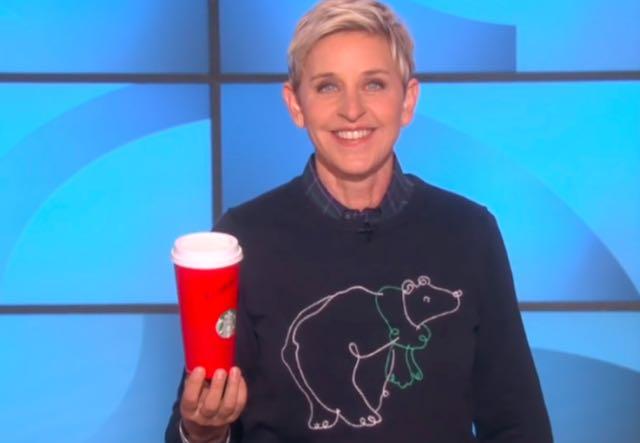 Trending Video: Ellen DeGeneres Looks At Starbucks' 'Satan Sippers' Controversy