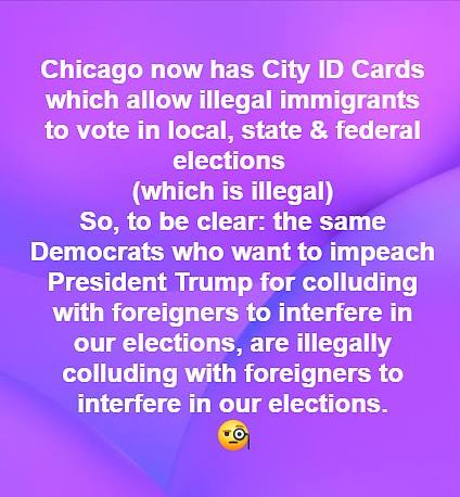 Fake News: Chicago Does NOT Have City ID Cards Which Allow Illegal Immigrants To Vote