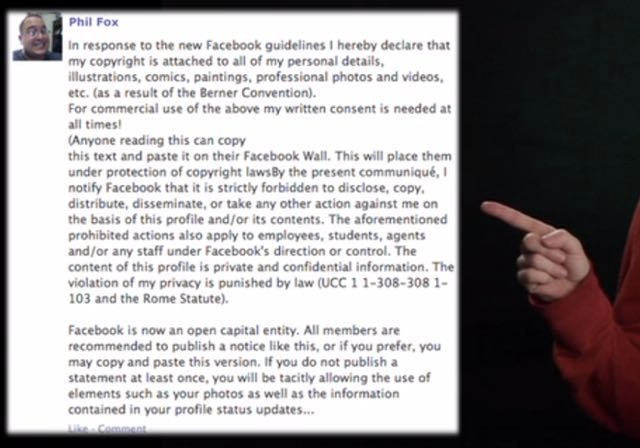 Attention Facebook 'Friends' Who Posted That 'Privacy' Message: Watch This Video & Feel Real Dumb!