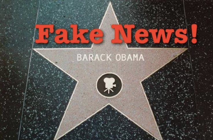 Fake News: Hollywood Chamber of Commerce DOES NOT Plan to Create a Star for Obama on Hollywood Walk of Fame