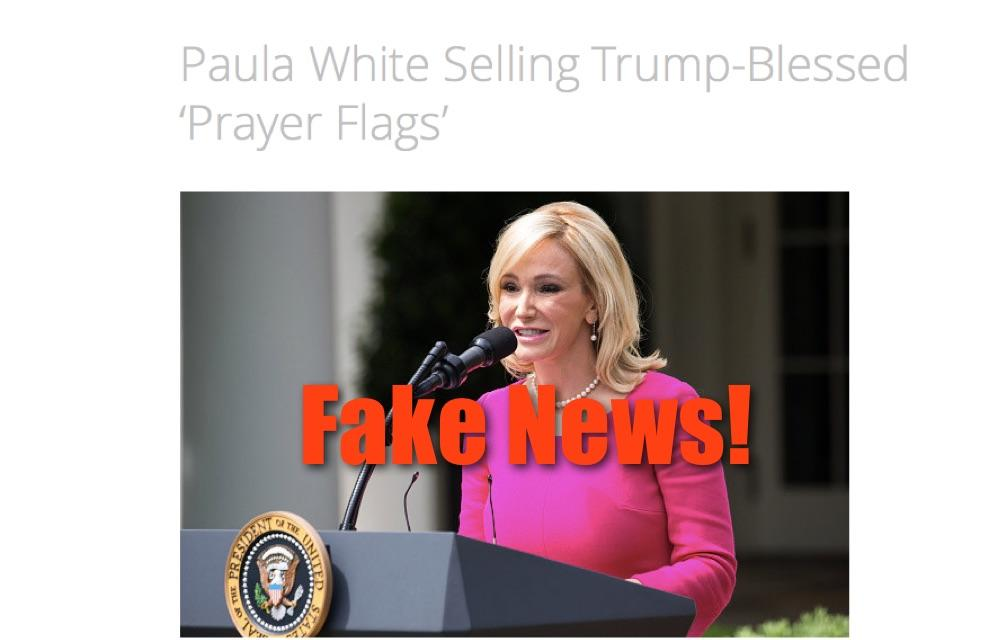 Fake News: Paula White NOT Selling Trump-Blessed 'Prayer Flags'
