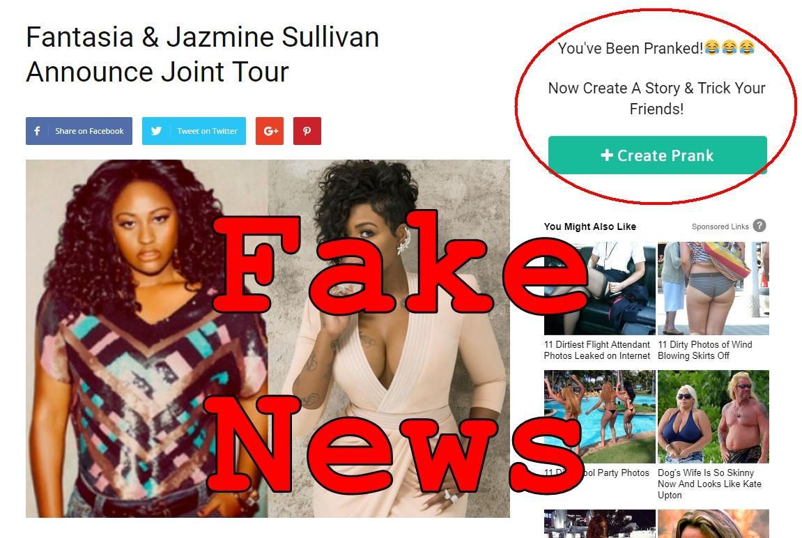 Fake News: Fantasia & Jazmine Sullivan Did NOT Announce Joint Tour