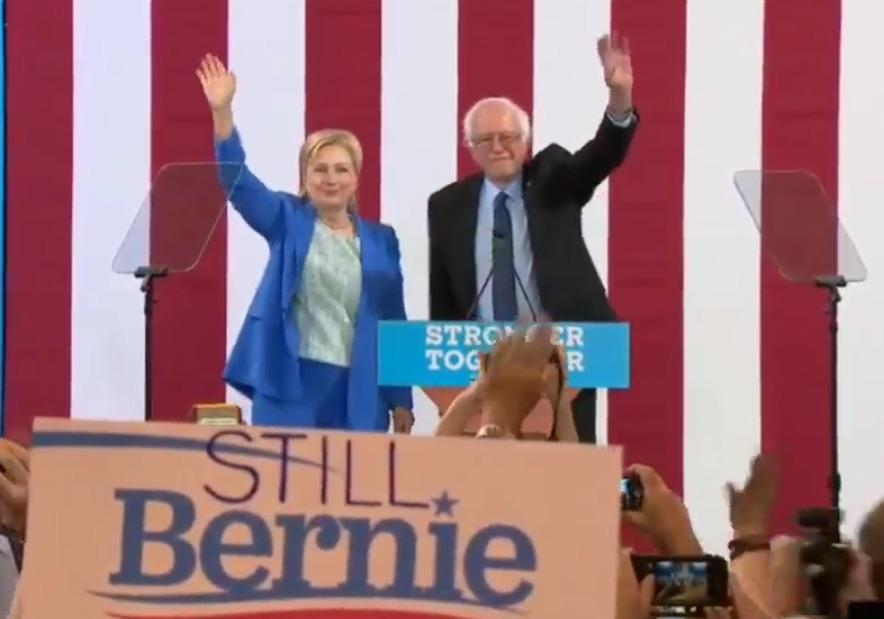 Watch Replay: Bernie Sanders Finally Endorses Hillary Clinton For President