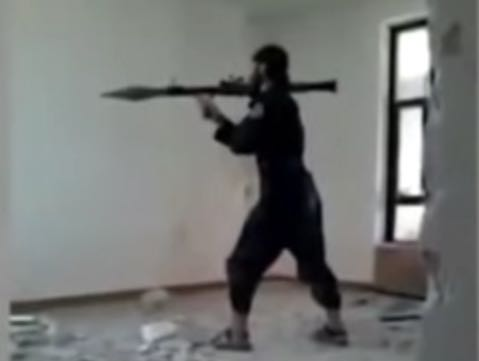 Who Trained This Guy? ISIS Fighter Blows Himself Up In Rocket Launcher Misfire