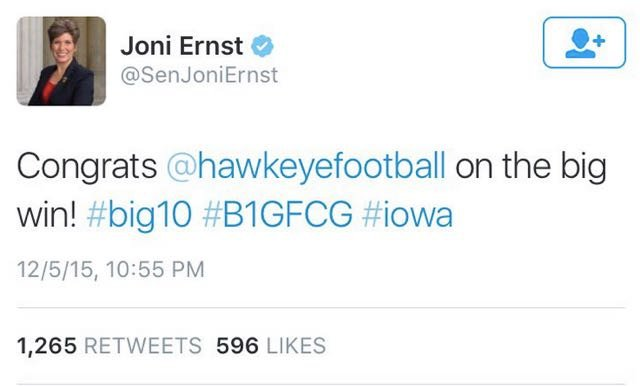 Senator Throws Staff Under The Bus After Tweeting Congrats To Iowa For 'Big Win'