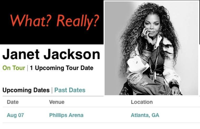 Is Janet Jackson's Tour Back? Atlanta Fans Get Alert August Concert Will Happen -- But Is It Real?
