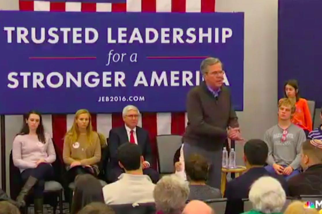 So Sad: Desperate Jeb! Begs New Hampshire Audience 'Please Clap'