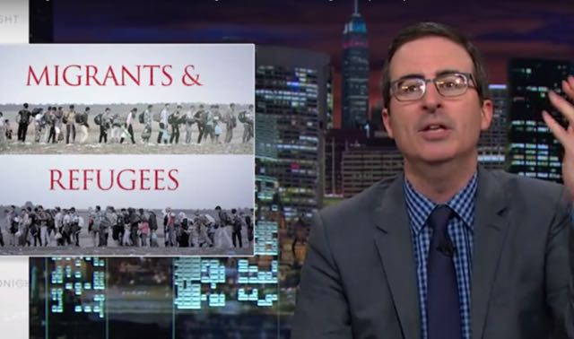 Video: Laugh & Cry As John Oliver Breaks Down Europe's Reaction To Syrian Refugees