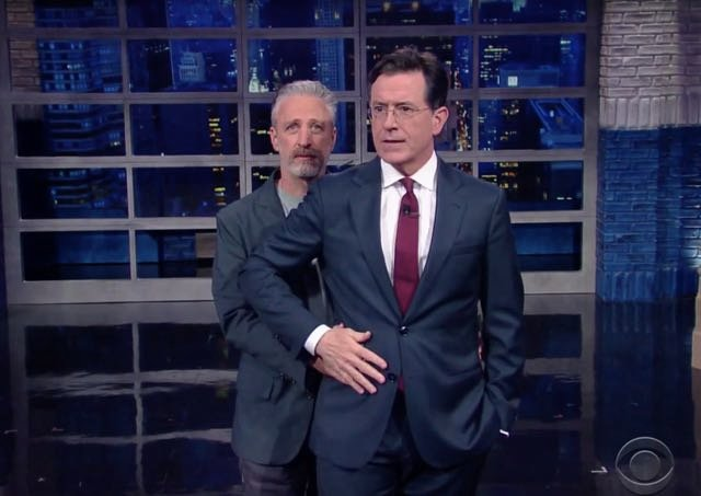 Jon Stewart Crashes Stephen Colbert's 'Late Show'
