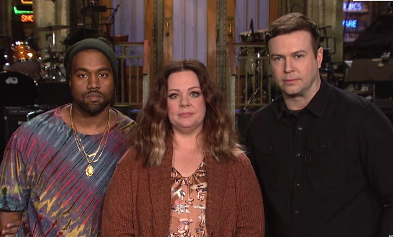 Kanye West Doesn't Look Happy With Melissa McCarthy In SNL Promo
