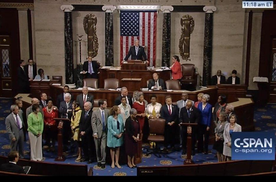 Democrats Stage 'Sit-In' On House Floor 'As Long As It Takes' Demanding Gun Control Vote