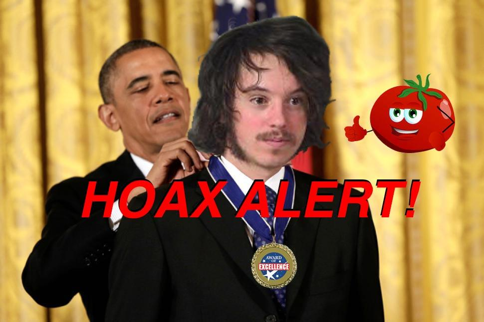 Hoax Alert: Man Who Threw Tomato At Trump WILL NOT Be Given Medal By Obama