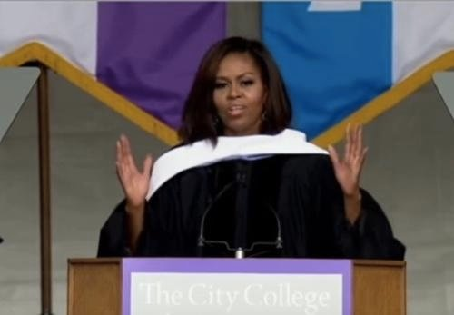 Watch Replay: First Lady Michelle Obama Targets Donald Trump In Commencement Speech at City College of New York