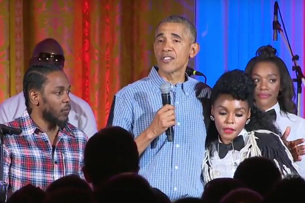 Watch Clip: President Obama Celebrates 4th of July With Janelle Monae, Kendrick Lamar