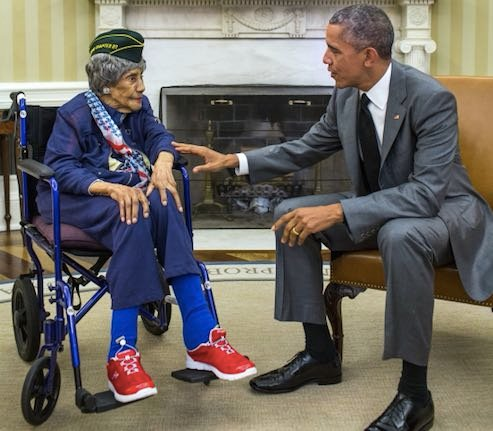 Oldest Living American Veteran, 110, Visits Obama
