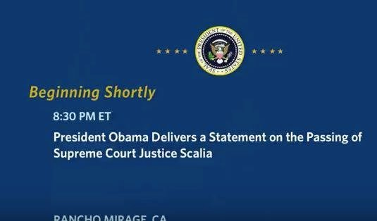 LIVE STREAM: President Obama Delivers Statement On Death Of Justice Scalia