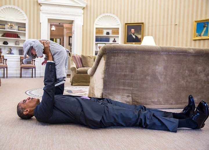 White House Spooks: President Obama Rolls On Floor With Young Trick-Or-Treater