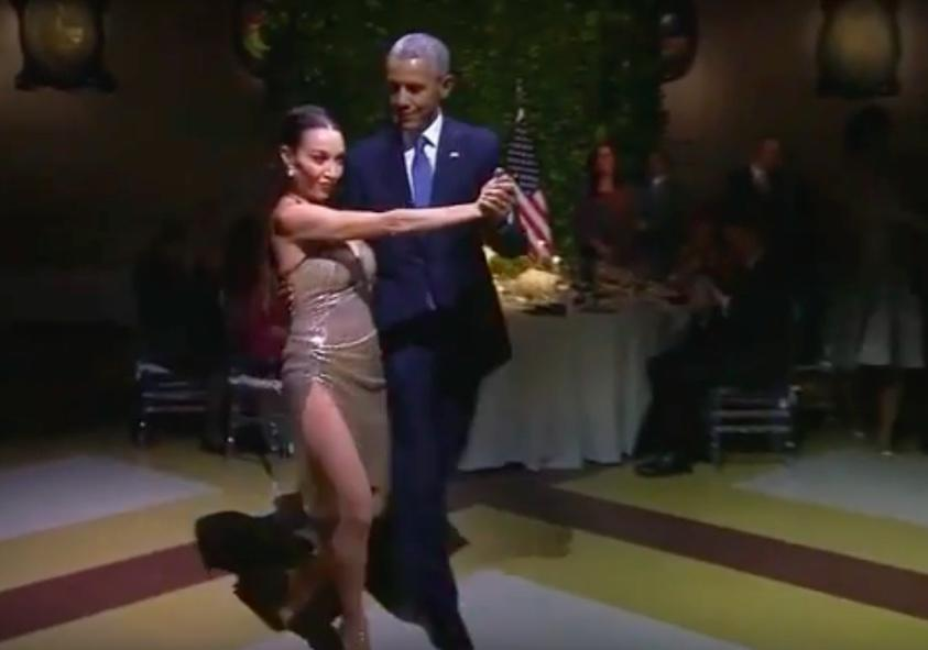 Last Tango? President Obama Dances While Conservatives Burn