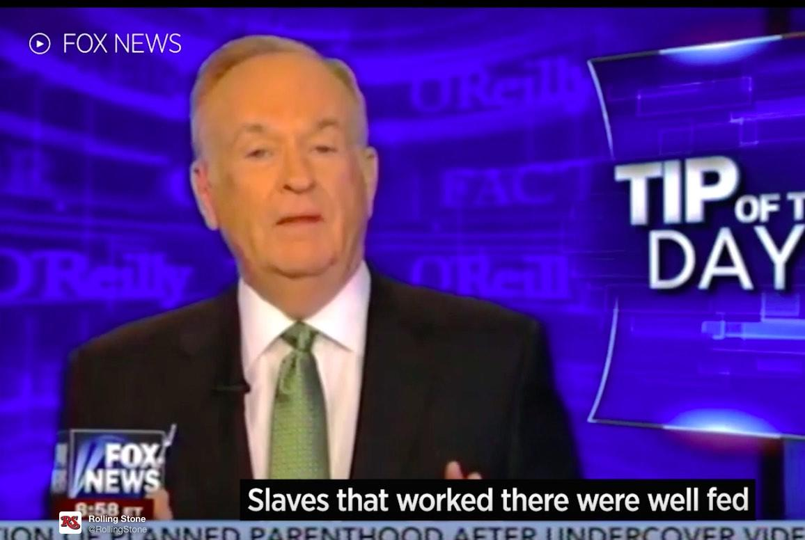 Bill O'Reilly Defends Use Of Slaves In White House Construction: They Were 'Well-Fed'!