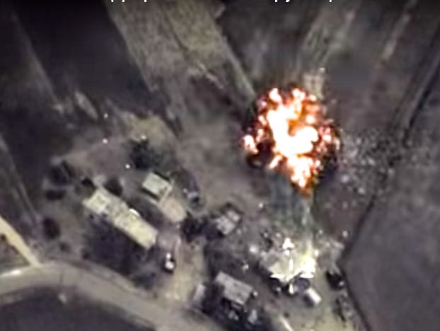 Russia Releases Cockpit Video Of Airstrikes Against ISIS In Syria