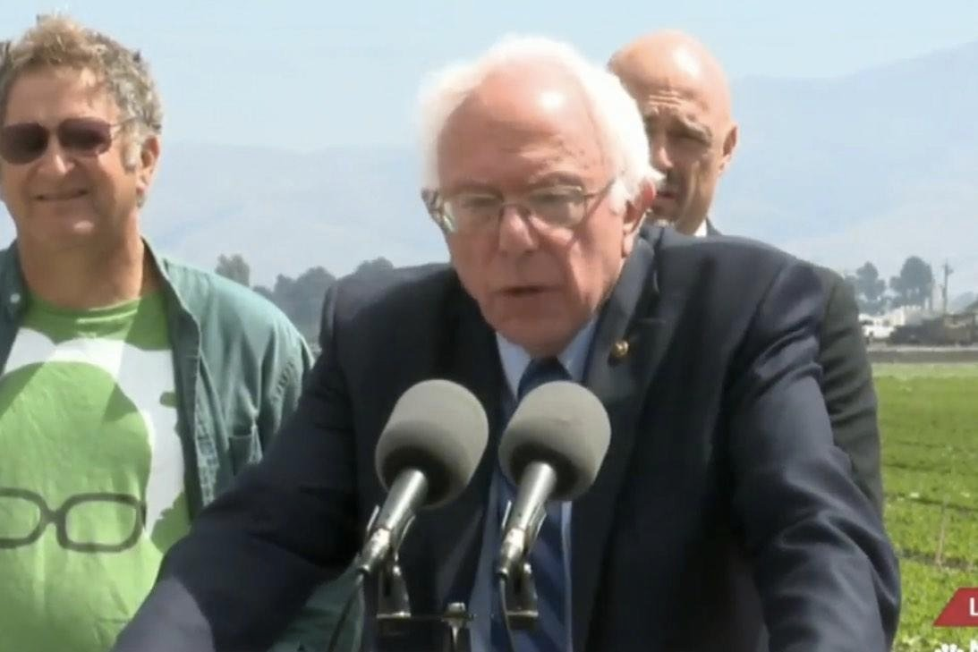 Watch Replay: Bernie Sanders Holds News Conference on Fracking in Spreckels, California