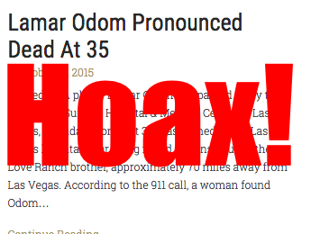 Hoax Alert: TMZ Imitator Publishes Fake Lamar Odom Death Report