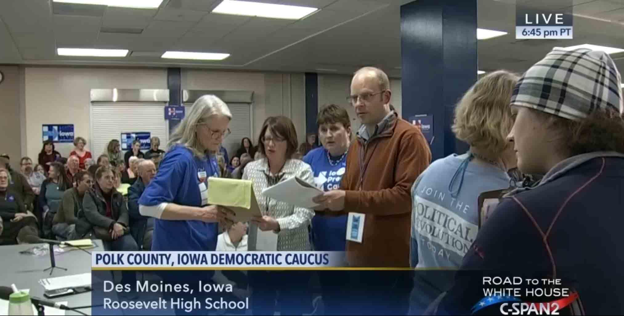 Politics: Hours After Iowa Caucuses, Calls Of Clinton Voter Fraud