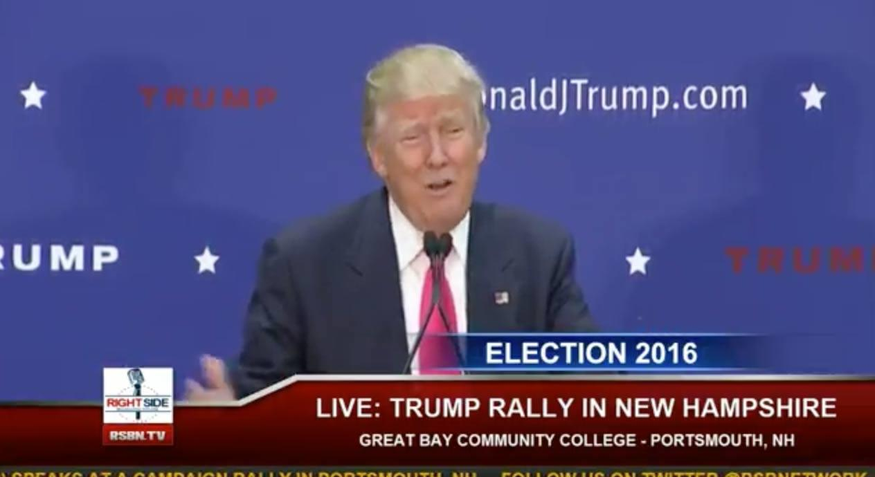 Live Stream: Trump Speaks At New Hampshire Rally