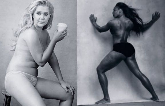 Amy Schumer & Serena Williams Go Topless For Pirelli's 2016 Calendar
