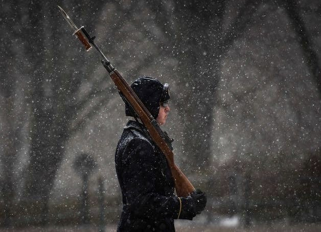 Gallery: Despite Blizzard, U.S. Army Sentinels Guard Tomb Of The Unknown Soldier