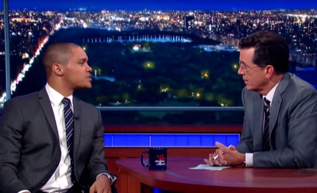 Video: New 'Daily Show' Host Trevor Noah Shows Political Talent On Colbert's 'Late Show'