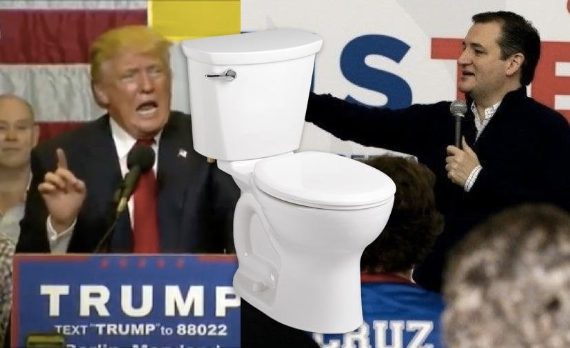 GOP 2016 Race Is OFFICIALLY In The Toilet: Ted Cruz Slams Donald Trump Over Bathroom Law