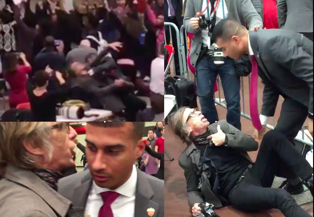 Crazy Video: Guard Bodyslams Photog At Chaotic Donald Trump Rally