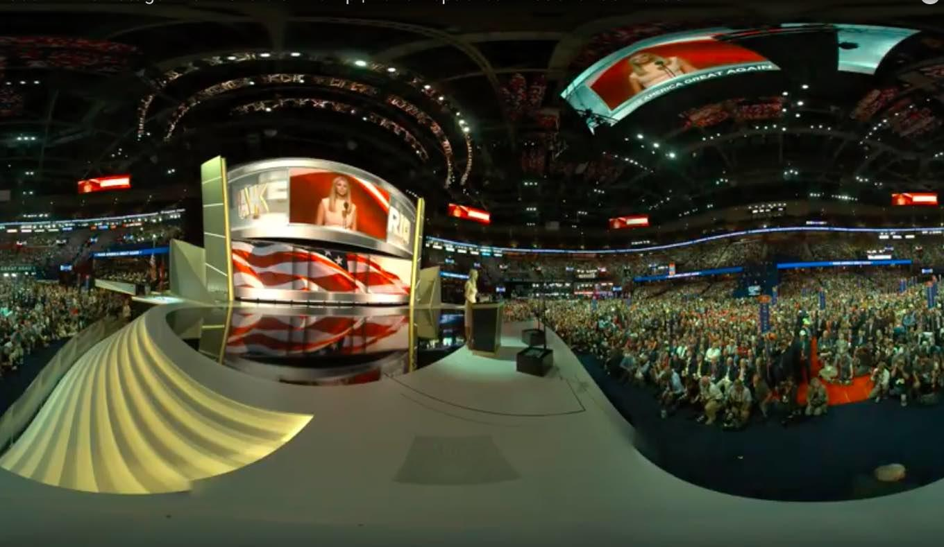 Watch Replay: Donald Trump Convention Speech In 360-Degree Stream From Podium Camera