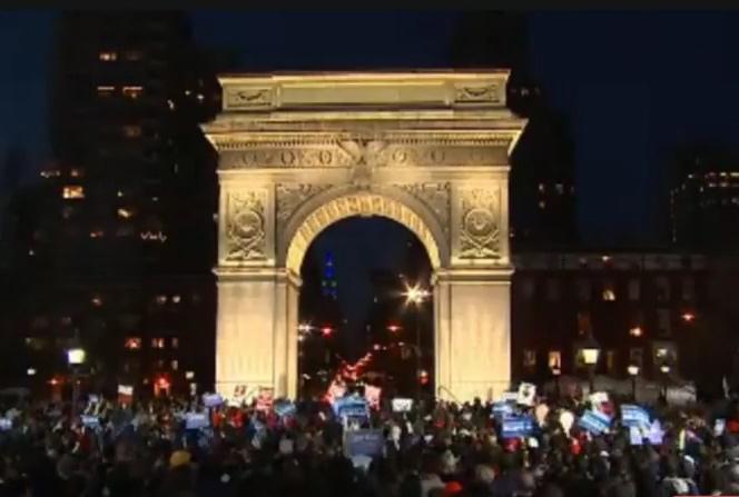 Watch Replay: Bernie Sanders At Washington Square Park New York Rally