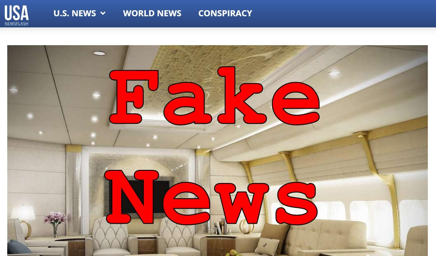 Fake News: New Air Force One NOT Ready Yet, NO Trump Interior Design Changes
